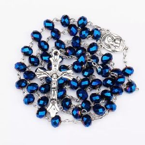 Jewelry - Holy Rosary Blue Necklace